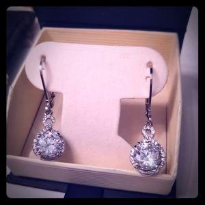 Brand new fancy cubic zirconia earrings
